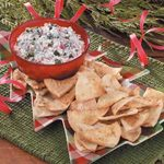 Spinach Dip with Cajun Pita Chips