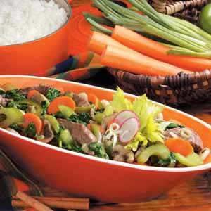 Spinach Beef Stir-Fry