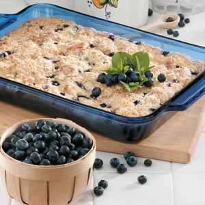 Blueberries and Cheese Coffee Cake