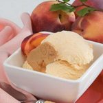 Contest-Winning Peach Ice Cream