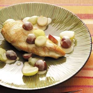 Dijon Chicken with Grapes