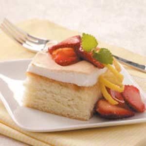 Moist Lemon Meringue Cake