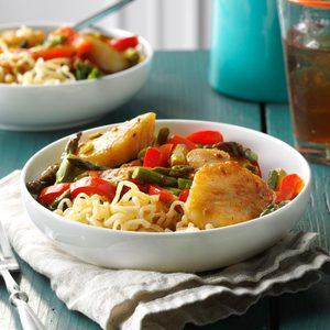 Stir-Fried Scallops and Asparagus