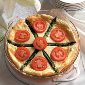 Asparagus Cheese Quiche
