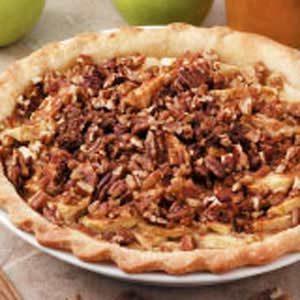 Nutty Sour Cream Apple Pie