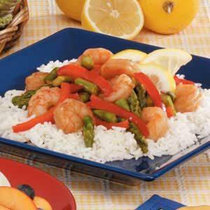 Lemony Shrimp 'n' Asparagus