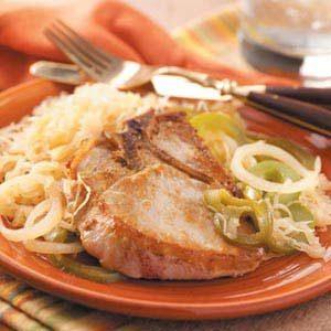 Pork Chops with Sauerkraut