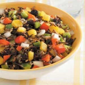 Wild Rice Pepper Salad