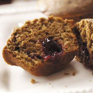 Santa's Surprise Gingerbread Muffins