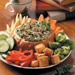 Baked Spinach Dip in Bread