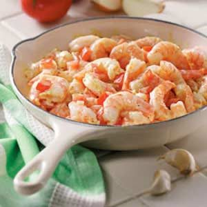 Shrimp with Mustard Sauce