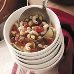 Minestrone Soup with Hamburger