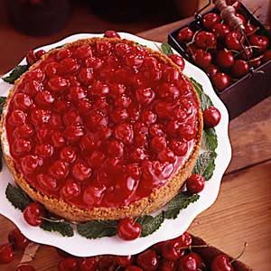 Creamy Cherry Cheesecake