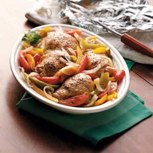 Grilled Chicken Veggie Dinner