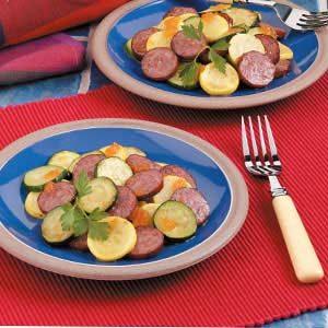 Simple Squash and Sausage