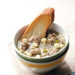 Hominy Sausage Soup