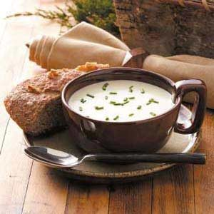 Creamy Leek Soup with Brie