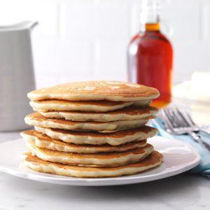 Golden Oat Pancakes