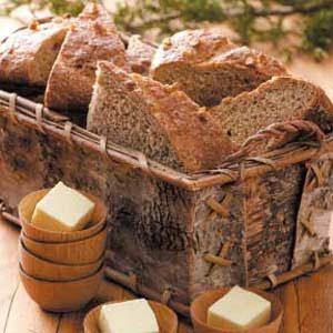 Walnut-Crusted Wheat Loaves