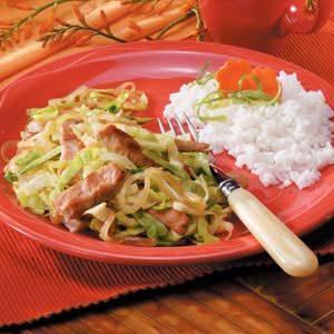Pork Cabbage Saute