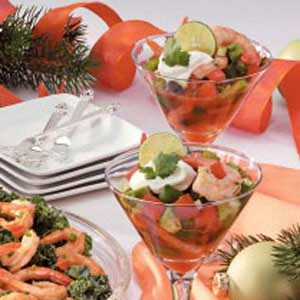 Gazpacho Shrimp Appetizer
