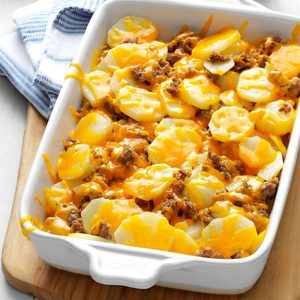 Cheesy Sausage Potatoes