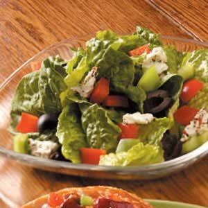 Feta-Olive Romaine Salad