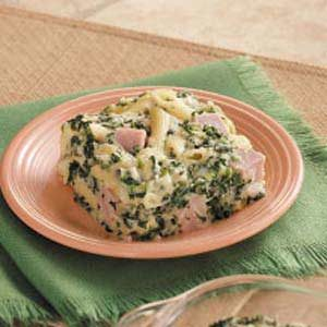 Ham and Swiss Pasta Casserole