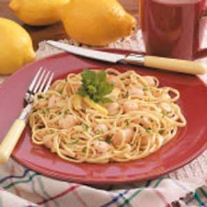 Lemon Scallop Linguine