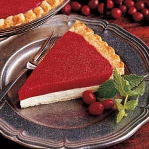 Fluffy Cranberry Cheese Pie