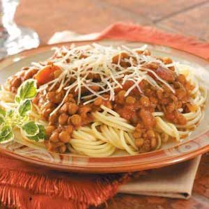 Hearty Lentil Spaghetti