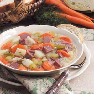 Three's-a-Charm Shamrock Soup