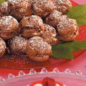 Chocolate-Hazelnut Cream Puffs