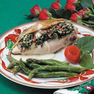Spinach-Mushroom Stuffed Chicken