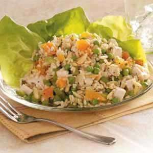 Apricot Chicken Rice Salad
