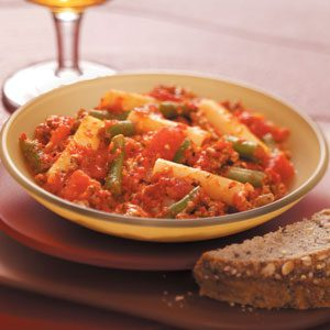 Beefy Red Pepper Pasta