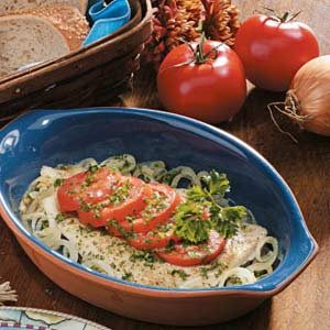 Tomato-Topped Sole