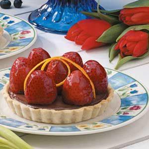 Strawberry Truffle Tarts