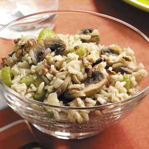 Rice and Mushrooms