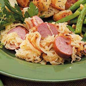Sausage with Apple Sauerkraut