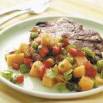 Grilled Pork Chops with Cilantro Salsa