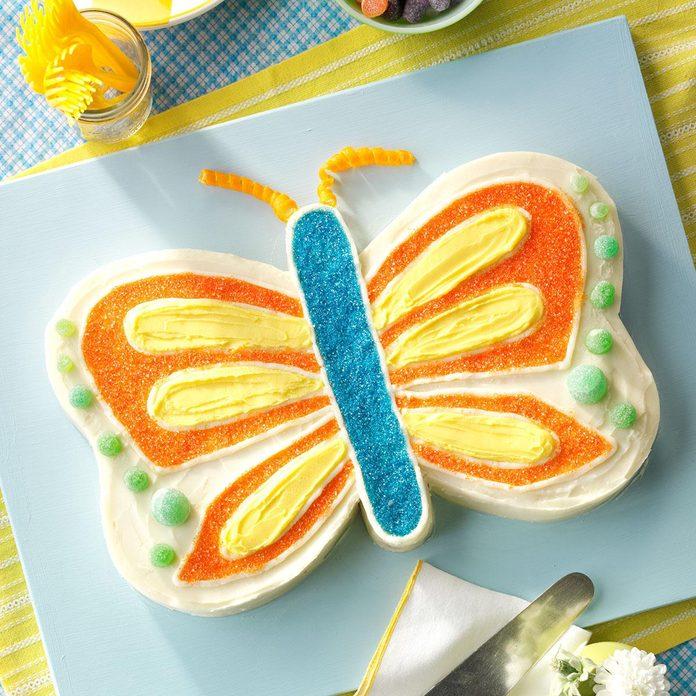 Homemade Butterfly Cake