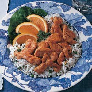Garlic Chicken on Rice