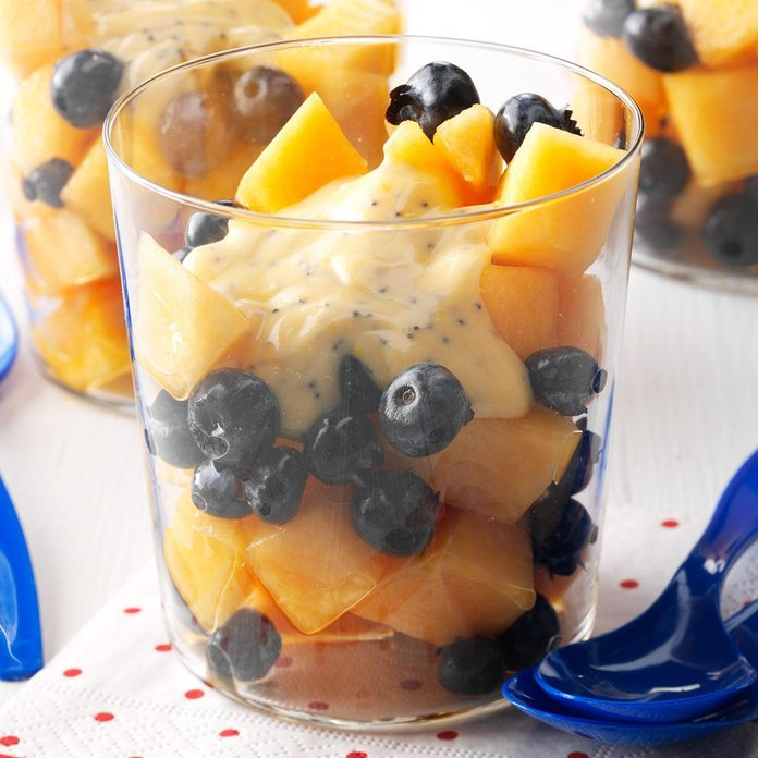 Blueberry Cantaloupe Salad