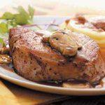 Tarragon Chops with Mushrooms
