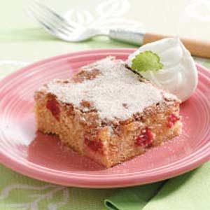Cinnamon-Sugar Rhubarb Cake
