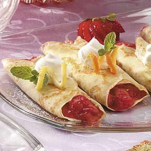 Strawberry Rhubarb  Crepes