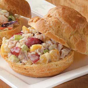 Turkey Salad Puffs