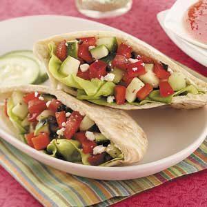Greek Salad Pitas