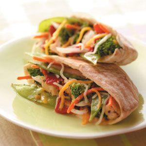 Veggie Chicken Pitas